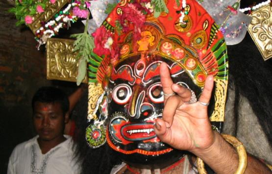 Bhairab Dance is old Dance of Madhyapur thimi